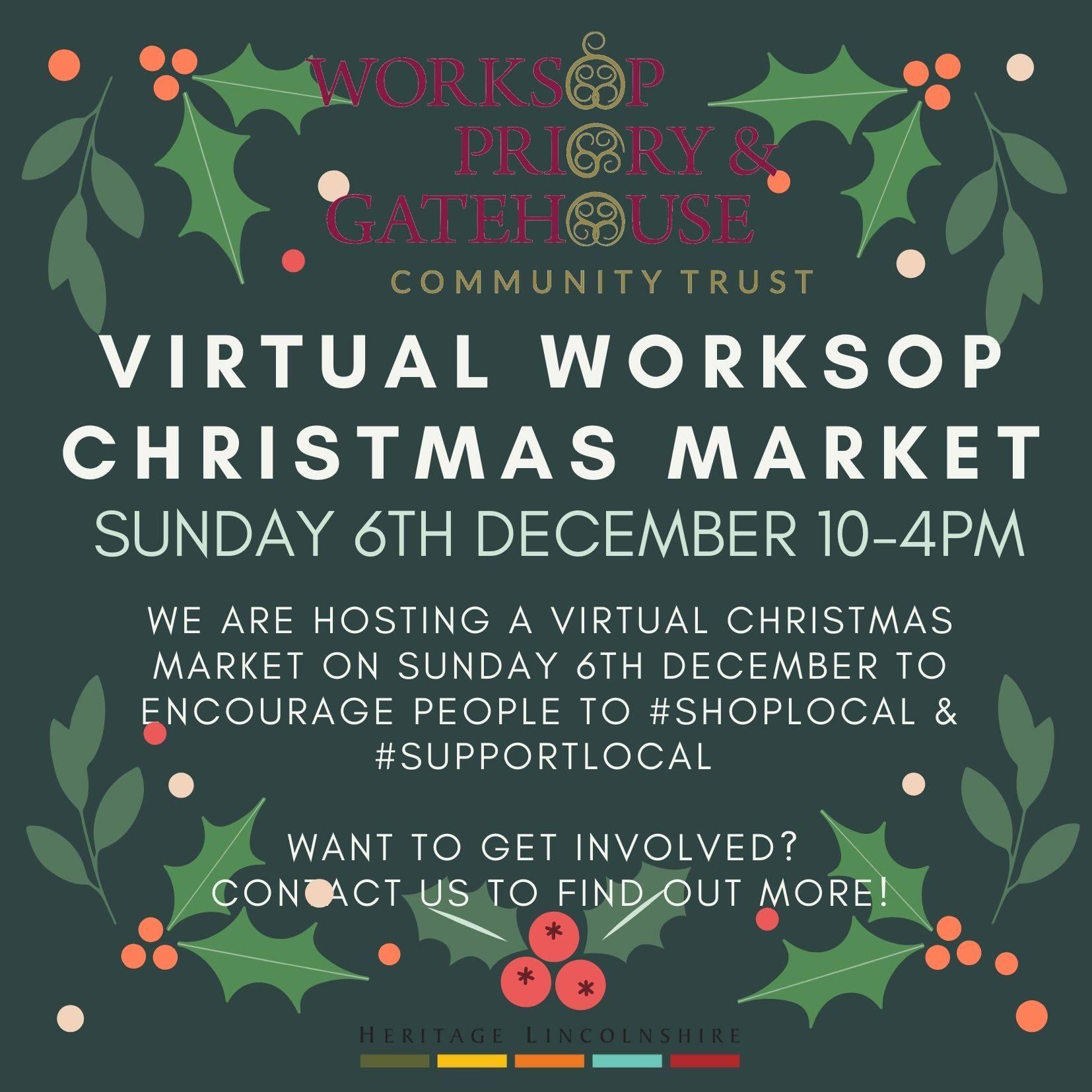 Worksop Priory & Gatehouse Community Trust virtual Christmas Fair 2020