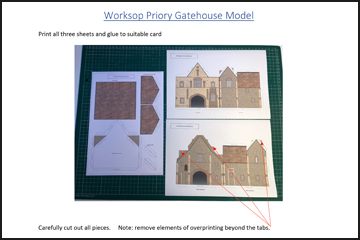 Instructions for the 3D Model of the Priory Gatehouse