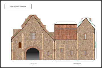 Plans for the 3D Model of the Priory Gatehouse