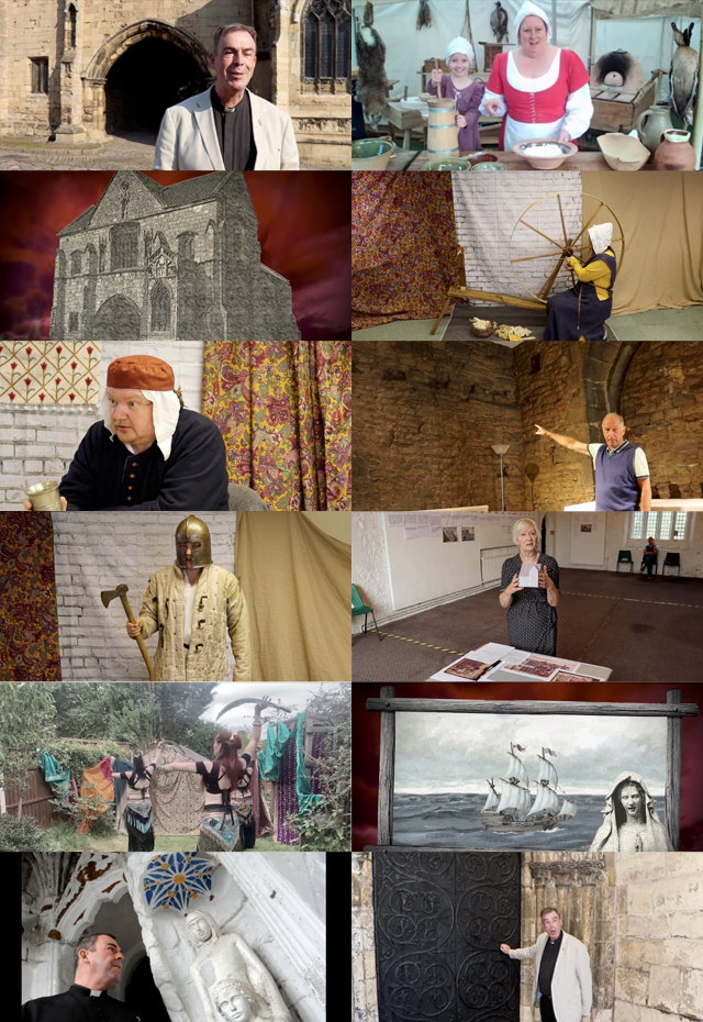 Montage of images highlighting the Facebook virtual Medieval Fair 2020