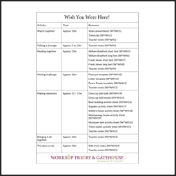 Learning Activity Pack plan for Wish You Were Here