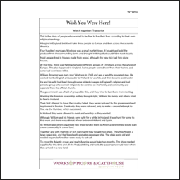 Learning Activity Pack transcript for Wish You Were Here