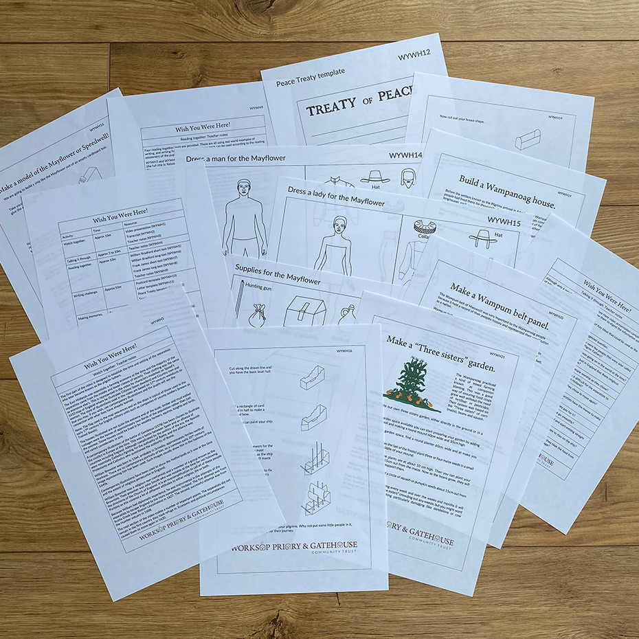 Sample schools learning activity pack contents for Wish You Were Here